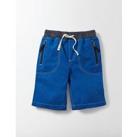 Adventure Shorts Blue Boys Boden, Blue