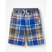 Rib Waist Shorts Khaki Boys Boden, Khaki