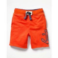 Appliqu Sweatshorts Red Boys Boden, Red