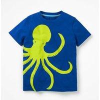 Wraparound T-shirt Blue Boys Boden, Blue