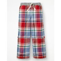 Surf Roll-up Trousers Red Boys Boden, Red