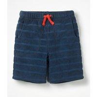 Towelling Shorts Blue Boys Boden, Blue