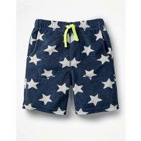 Towelling Shorts Navy Boys Boden, Navy
