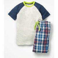 Short Pyjama Set Blue Boys Boden, Blue