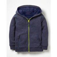 Garment-Dyed Zip-up Hoodie Blue Boys Boden, Blue