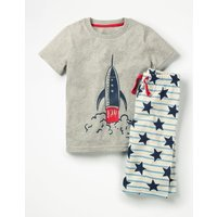Graphic Pyjama Set Blue Boys Boden, Blue