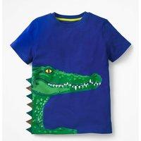 3D Animal T-shirt Blue Boys Boden, Blue