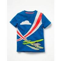 Action Appliqué T-shirt Grey Boys Boden, Blue