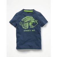 Surf Dude Graphic T-shirt Blue Boys Boden, Blue