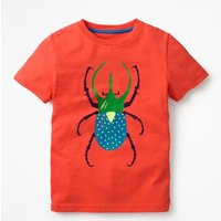 Classic Printed T-Shirt Red Boys Boden, Red