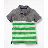Slub Jersey Polo Shirt Green Boys Boden, Green