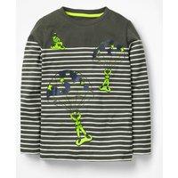 Action Breton T-shirt Green Boys Boden, Green