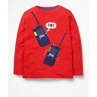 Adventure Appliqué T-shirt Red Boys Boden, Navy