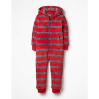 Cosy Fleece All-in-one Red Boys Boden, Grey