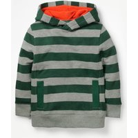 Stripy Hoodie Green Boys Boden, Green