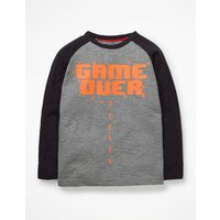 Graphic Pop T-shirt Grey Boys Boden, Grey