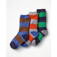 3 Pack Fluffy Socks Multi Boys Boden, Multicouloured