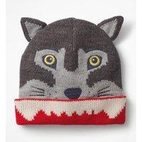 Wolf Hat Grey Boys Boden, Grey