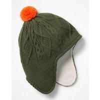 Fleece-lined Hat Green Boys Boden, Green