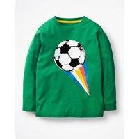 Superstar Sequin T-shirt Green Boys Boden, Green