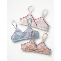 3 Pack Pretty Crop Tops Multi Girls Boden, Multicouloured