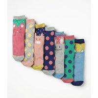 7 Pack Sock Box Multi Girls Boden, Multicouloured