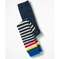 Patterned Footless Tights Navy Girls Boden, Navy