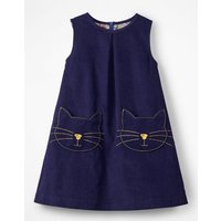 Novelty Pocket Cord Pinafore Blue Girls Boden, Blue