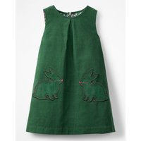 Novelty Pocket Cord Pinafore Green Girls Boden, Green