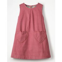Novelty Pocket Cord Pinafore Pink Girls Boden, Pink