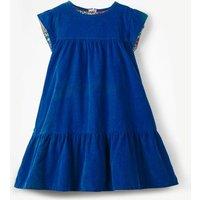 Pretty Cord Dress Blue Girls Boden, Blue