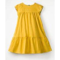 Pretty Cord Dress Yellow Girls Boden, Yellow