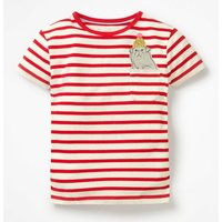 Johnnie B Pocket Appliqué T-shirt Red Girls Boden, Red
