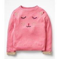 Animal Antics Jumper Pink Girls Boden, Pink