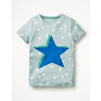 Colour Pop T-shirt Blue Girls Boden, Blue