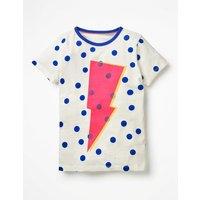 Colour Pop T-shirt Ivory Girls Boden, Ivory