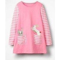 Animal Pocket Tunic Pink Girls Boden, Pink