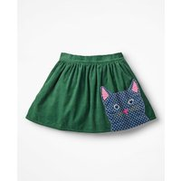 Animal Applique Skirt Green Girls Boden, Green
