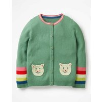 Pet Cardigan Green Girls Boden, Green
