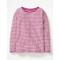 Sparkly Pointelle T-shirt Purple Girls Boden, Purple