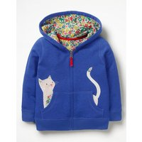 Novelty Zip-up Hoodie Blue Girls Boden, Blue