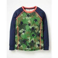 Johnnie B Long-sleeved Active T-shirt Green Girls Boden, Green