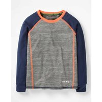 Long-sleeved Active T-shirt Grey Girls Boden, Grey
