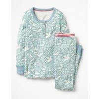 Henley Pyjama Set Blue Girls Boden, Blue