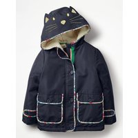 Novelty Sherpa-Lined Anorak Navy Girls Boden, Navy