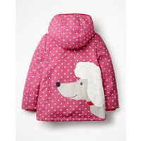 Novelty Sherpa-Lined Anorak Pink Girls Boden, Pink