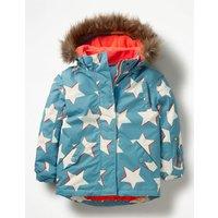 All-weather Waterproof Jacket Blue Girls Boden, Blue