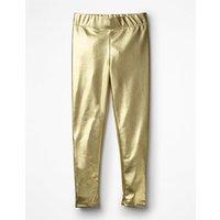 Shiny Leggings Gold Girls Boden, Gold