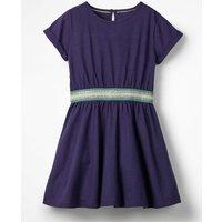 Sporty Jersey Dress Blue Girls Boden, Blue