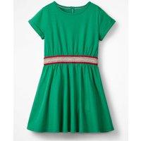 Sporty Jersey Dress Green Girls Boden, Green